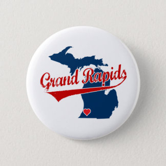 Hearts Grand Rapids Michigan Pinback Button