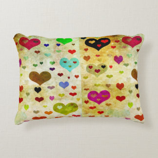 Hearts-Grunged by Shirley Taylor Accent Pillow