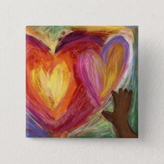 Hearts & Hands Diversity Love Lapel Pin Buttons