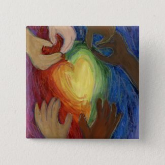 Hearts & Hands Diversity Love Lapel Pin or Buttons