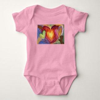 Hearts & Hands Love Diversity Art Custom Bodysuit