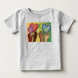 Hearts & Hands Love Diversity Art Custom Shirts