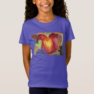Hearts & Hands Love Diversity Art Custom T-Shirt