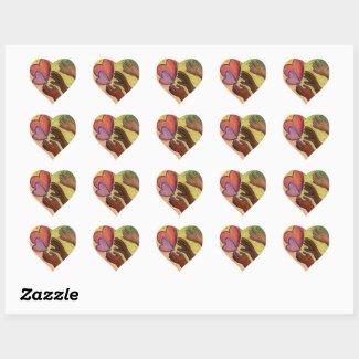 Hearts & Hands Love Diversity Art Decal Stickers
