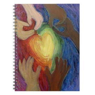 Hearts & Hands Love Diversity Art Notebook Journal