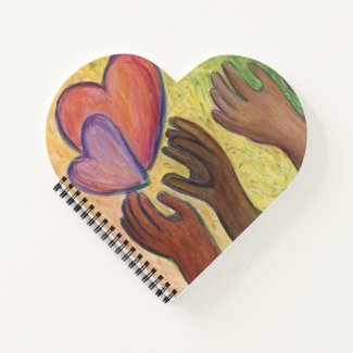 Hearts & Hands Love Diversity Notebook or Journal