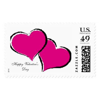 Hearts, Happy Valentine'sDay Postage