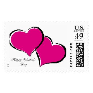 Hearts, Happy Valentine'sDay Postage Stamp