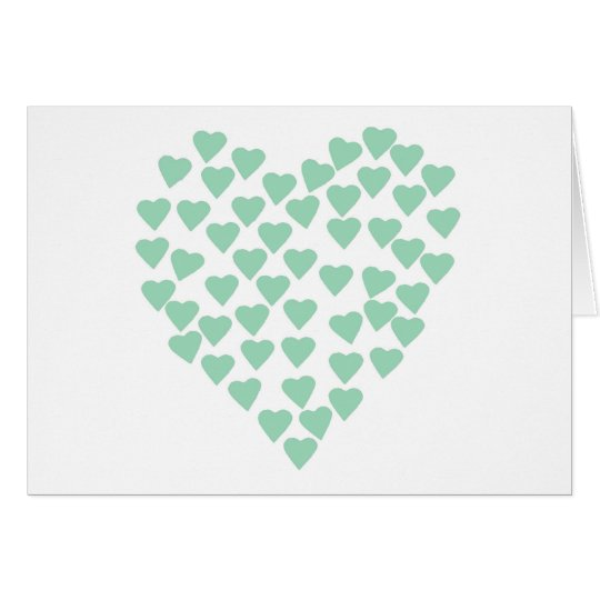 Hearts Heart Mint on White Card