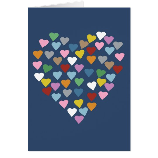 Hearts Heart Navy Card