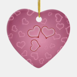 Hearts Heart Ornment Double-Sided Heart Ceramic Christmas Ornament