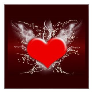 Hearts Heart Peace Love Destiny Wedding Shower Poster