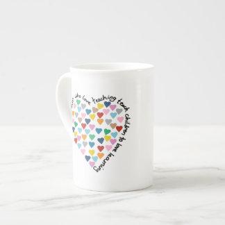 Hearts Heart Teachers Tea Cup