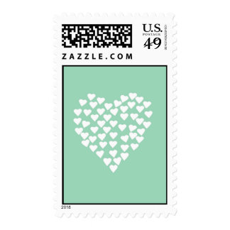 Hearts Heart White on Mint Postage Stamp