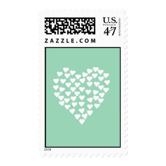 Hearts Heart White on Mint Stamp