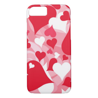 Hearts, Hearts, and More Hearts iPhone 8/7 Case