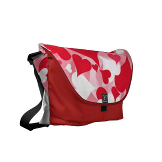 Hearts, Hearts, and More Hearts Messenger Bag