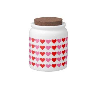 Hearts,Hearts,Hearts Candy Jar