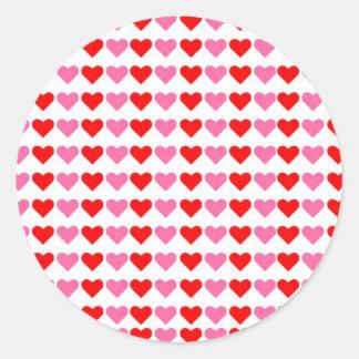 Hearts hearts hearts classic round sticker
