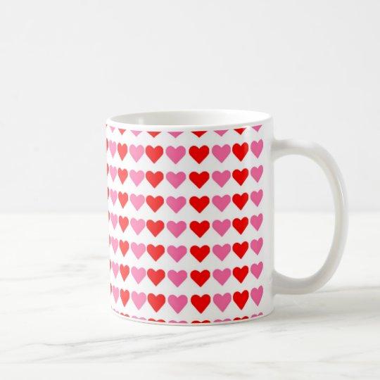 Hearts hearts hearts coffee mug