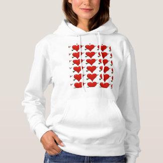 Hearts, Hearts, Hearts ladies hoodie