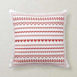 Hearts Hearts Hearts Love Throw Pillow