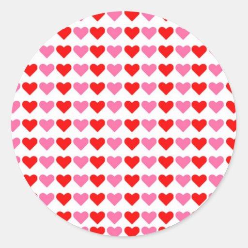 Hearts hearts hearts round stickers