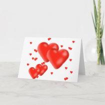 hearts holiday card