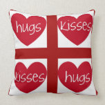 Hearts, Hugs and Kisses Pillows