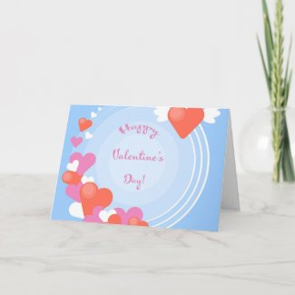 Hearts In A Circle Valentine's Day Card