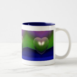 """Hearts In A Row"" coffee cup by Zoltan Buday Mug"