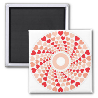 hearts in a spin fridge magnet