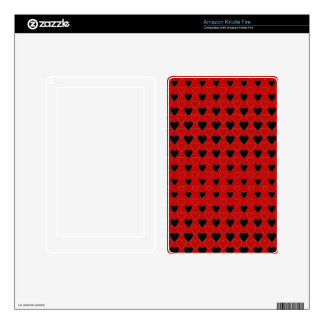 Hearts in Black and Red Skin For Kindle Fire