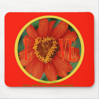 Hearts in Bloom / LOVE Mouse Pad