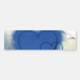 Hearts in Clouds with Blue Sky Car Bumper Sticker