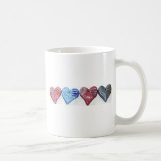 Hearts In Color Clay Art Photo Design Coffee Mug