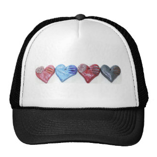 Hearts In Color Clay Art Photo Design Trucker Hat