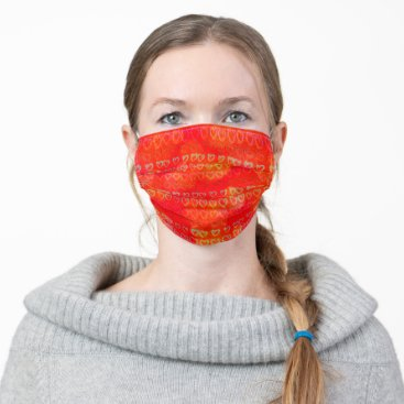 Hearts in colors cloth face mask