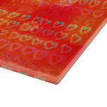 Hearts in colors cutting board