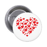 hearts in heart icon pins