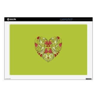 Hearts-In-Heart-On-Acid-Apple-Green-Pattern Laptop Decal