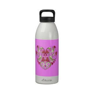 Hearts-In-Heart-On-Bubblegum-Pink-Pattern Drinking Bottles