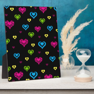Hearts in Hearts on Black Display Plaques