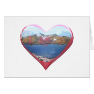 Hearts in San Francisco Card