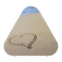 Hearts In The Beach Sand Bluetooth Speaker