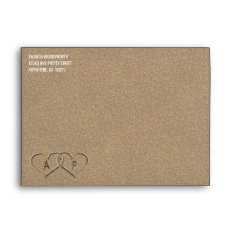 Hearts In The Sand Beach Sand Wedding Envelopes at Zazzle