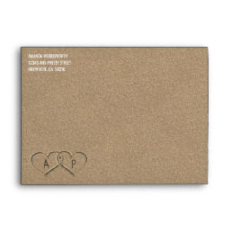 Hearts in the Sand Beach Sand Wedding Envelopes