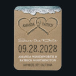 "Hearts in the Sand Beach Save the Date Magnets<br><div class=""desc"">Hearts in the Sand Beach Save the Date Magnets - ***ALSO NOTE THAT THIS DESIGN IS AVAILABLE IN SAVE THE DATE POSTCARDS AND POSTCARD SIZED MAGNETS AT CHEAPER COSTS. *** See the collection on this page to view those products. Design features hearts in the sand that you can &quot;carve&quot; or...</div>"
