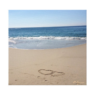 Hearts in the Sand Canvas