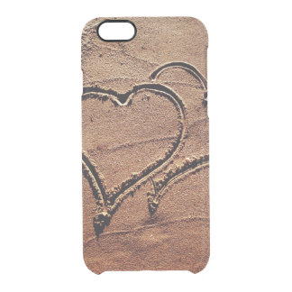 Hearts in the Sand Clear iPhone 6/6S Case